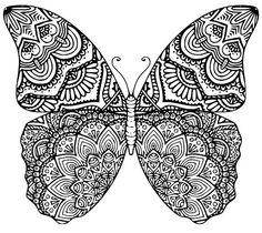 La mariposa Mandala SVG. DXF. EPS por ShelbysSouthernCuts en Etsy