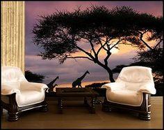 safari bedroom decorating - wild animal safari theme bedrooms murals - Safari style accessories - african wall decor - jungle bedding
