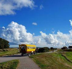Tolles Wetter zum Tag der deutschen Einheit auf #Hiddensee. #bluesky #clouds #cloudphotography #kutsche #kutschefahren