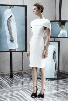 Balenciaga Resort 2014 - Slideshow Like the front dress lines. Shape stands out among collections.