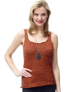 Tank Top | Yarn | Free Knitting Patterns | Crochet Patterns | Yarnspirations