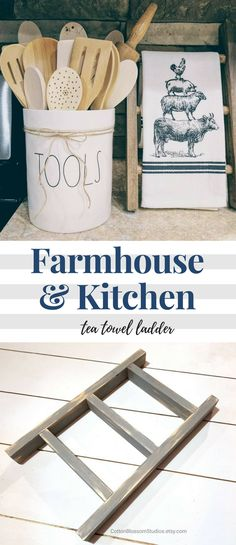 Cute towel ladder for kitchen ❤️