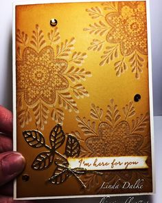 Linda Dalke: 3D stamping AKA Shadow Stamping with the Frosted Medallions from Stampin'Up!