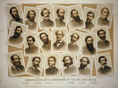 Southern Leaders in the American Civil War.