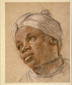 Charles de LaFosse Two Studies of an African Page France (c. pastels on paper The British Museum I'm not surprised to see more than one study drawn of this strikingly beautiful young. European History, Art History, European Style, Drawing Sketches, Drawings, Black Figure, Pastel Portraits, African History, Western Art