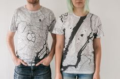 Graphic designer creates Citee Fashion: intricate city maps printed on t-shirts | http://www.creativeboom.com/