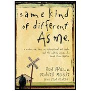 This book is a true story of an upperclass man who befriends a homeless man while the upperclass man is working at a shelter.  It's cool to see both people change through their unlikely friendship.