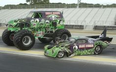 Detail Info For Grave Digger Monster Truck And Top Fuel Funny Car Unique Wallpaper Num. Rc Cars And Trucks, Jacked Up Trucks, Cool Trucks, Big Trucks, Chevy Trucks, Cool Cars, Big Monster Trucks, Monster Truck Party, Truck Art