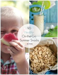 Healthy on the go Summer Snacks! Perfect for a road trip or a quick trip to the beach! @livesimplymom