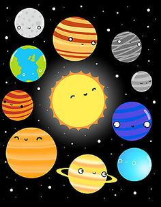 'The Solar System' Photographic Print by Sarah Crosby Das Sonnensystem von Sarah Crosby My Solar System, Solar System Projects, Space Party, Space Theme, Planet Drawing, Mothers Day Crafts For Kids, 1st Boy Birthday, Science And Nature, Diy And Crafts