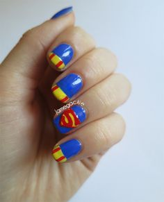 Superman Nails | Jamegackie