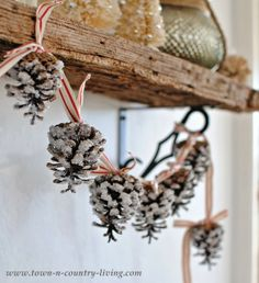 DIY Christmas Pine Cone Garland - Town and Country Living