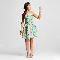 Girls' Bird Print Dress Mint - Cherokee&#153