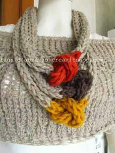 Necklace from Roberta Castiglione/Social Crochet facebook page