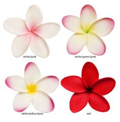 3 inch Hawaiian flower hair clip with alligator clip backing for secure wear. Great hair clip for weddings and parties.