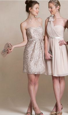 Beautiful bridesmaid dresses by Jenny Yoo- love the one shoulder!