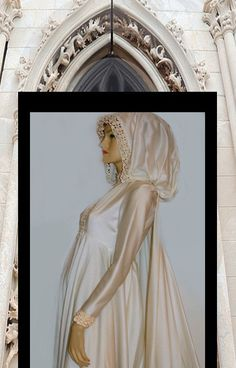 Medieval Style Wedding Gown with Hood and by whiteriver51 on Etsy, $350.00