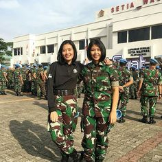 Indonesian's Army Girl Cute