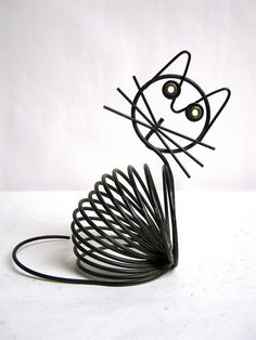 vintage wire cat envelop holder by dirty birdies vintage on Flickr