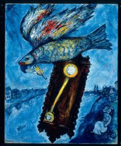 """Marc Chagall, """"Time is a River without Banks,"""" 1930–1939, oil on canvas"""