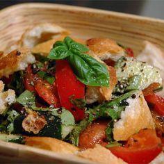 """Mid-Summer Italian Bread Salad 