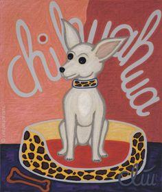 Jacqueline Ditt - The Chihuahua Dog (Der Chihuahua Hund) - universal arts Galerie Studio - Grafik Druck Kunstdruck nach dem Gemälde universal arts Galerie Studio edition http://www.amazon.de/dp/B00K5990C0/ref=cm_sw_r_pi_dp_BoxMvb1JFR1NM