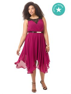 Layered Keyhole Dress In Raspberry