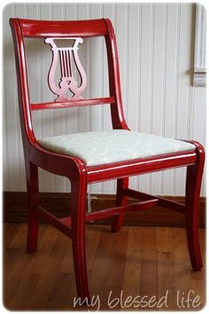 Krylon Dual Paint and Primer in Cherry Red for those old dining room chairs