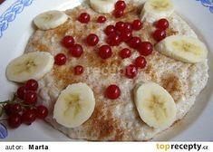 Ovesná kaše nasladko recept - TopRecepty.cz Pancakes, Oatmeal, Breakfast, Food, Meal, Pancake, Essen, Morning Breakfast, Overnight Oatmeal