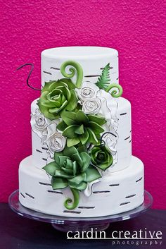 "Pinner: ""Birch Wedding Cake."""