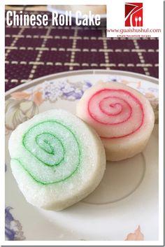 Chinese Traditional Glutinous Rice Rolled Cake (软糕,老妈糕, 老嫲糕,  香蕉糕)     #guaishushu #kenneth_goh    #软糕