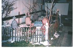 diy haunted house props | ... props, wooden crosses, fence columns with Halloween skulls and spooky
