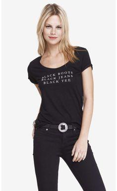 In The Hood / Black Boots, Black Jeans, Black Tee