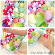 Addition activity with Easter eggs & Preschool/Early Learning: Letter E | mybigfathappylife.com