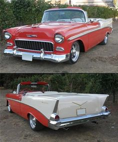 The 5-6-7, it starts as a '55 in front, blending into a '56 and ends with a '57 tail. Built as a convertible, all parts used were original convertible parts, i.e. frame X-member, quarter windows and regulators, all garnish molding and all stainless windshield trim.