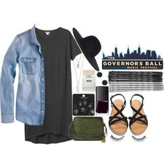 Governors Ball 2015 by zabfashion on Polyvore featuring Monki, J.Crew, Topshop, With Love From CA, Gorjana, Napoleon Perdis, Bella Freud, NARS Cosmetics and Frye
