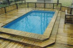 Swimming Pool Decks, Above Ground Swimming Pools, Swimming Pool Designs, In Ground Pools, Swiming Pool, Oberirdische Pools, Cool Pools, Lap Pools, Backyard Pool Landscaping