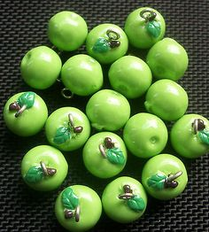 6 #green apples acrylic #fruit #charms 12mm,  View more on the LINK: http://www.zeppy.io/product/gb/2/351449903882/