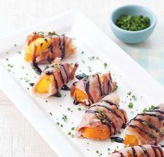 Grilled Prosciutto Peaches