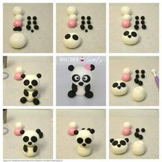 Cupcakes versieren panda 17 ideas for 2019 Fondant Toppers, Fondant Cakes, Cupcake Toppers, Cupcake Smash Cakes, Panda Birthday Cake, Panda Cupcakes, Bolo Panda, Panda Party, Fondant Animals
