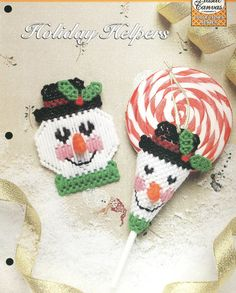Holiday Helpers Plastic Canvas Pattern by needlecraftsupershop, $3.00