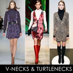 The Top 6 Trends Of Fall 2015: NYFW Edition | The Zoe Report Images for Jill Stuart, Thakoon, Rachel Zoe Clearly turtlenecks are a fashion girl's secret weapon when the temps start to plummet.  tried layering one under a V-neck minidress