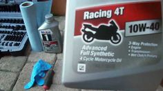 How to :change oil on a motorcycle ( 09 Yamaha R6S )