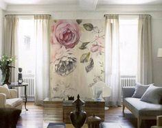Fantasy Wild Flowers Wallpaper Poetsie Bright Oil by DreamyWall