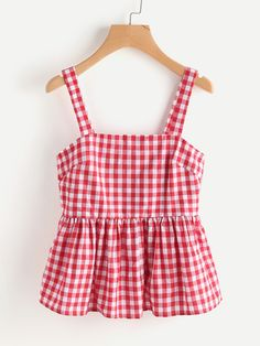 Shop Zip Side Gingham Pinafore Peplum Top online. SheIn offers Zip Side Gingham Pinafore Peplum Top & more to fit your fashionable needs.