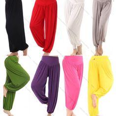 Womens Harem Yoga Taichi Belly hippie baggy jumpsuit Dance Pants Boho Trousers