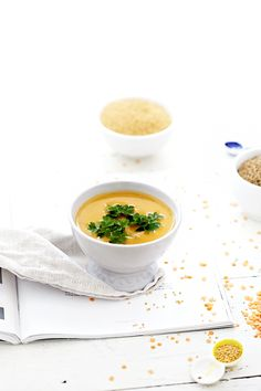 spicy red lentil soup.