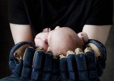 This is one of cutest baby pics i have seen...my son is so playing hockey so i can do this when he is a baby