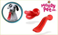 Give Fido a fun toy and give yourself a few laughs with the hilarious Humunga toy from Moody Pet! These natural-rubber balls are fun for fetch and for photos because they stick out of your pup's mouth in the shape of a big pair of lips, or a giant tongue! Choose your hilarious style at checkout.