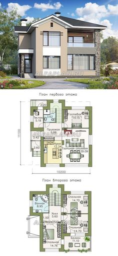 Contemporary House Plans, Modern House Plans, Small House Plans, Garage House Plans, Dream House Plans, House Floor Plans, Duplex House Design, Modern House Design, Three Bedroom House Plan